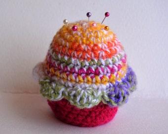 Rainbow Cupcake Pincushion