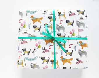 Gift Wrap - Birthday Dogs Wrapping Sheets