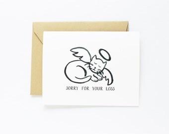 Sympathy, Pet Sympathy - Cat  Sympathy card