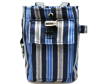 Blue and grey striped dog treat / training / snack bag