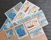 Chemistry Gems .. UNused Vintage Postage Stamps  .. post 5 letters
