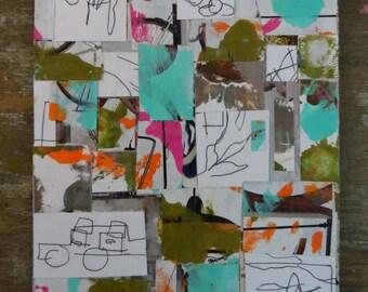 Mixed Media Collage Original