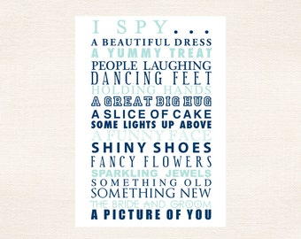 I Spy Cards Children's Activities For Weddings and Parties - Atlantic Blue and Pool