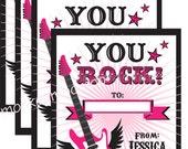 Printable  You Rock Valentine Cards