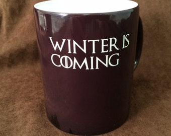 Winter Is Coming Color Changing Mug