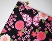 SALE - Sakura & Butterfly iPad Case/ Zipper Pouch/ Clutch Bag