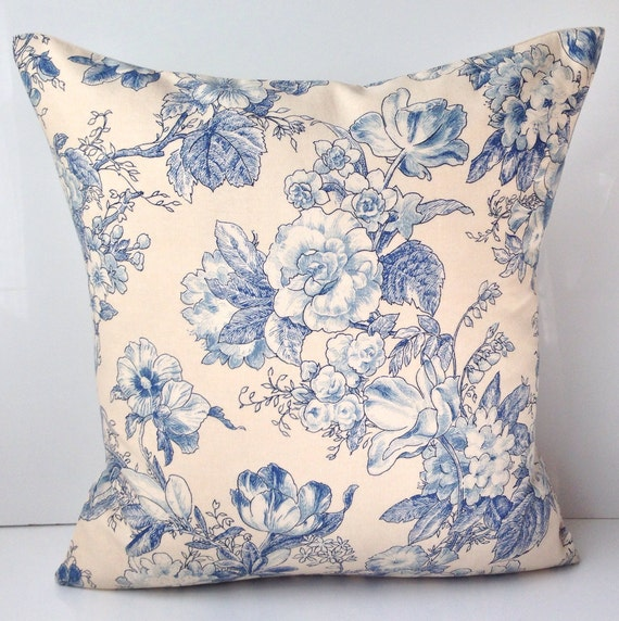 Throw Pillow Covers 18x18 : Items similar to Decorative Pillow Cover 18x18 Inch Blue Pillow Cushion Throw Accent Pillow ...