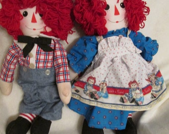 Raggedy Ann and Andy doll.