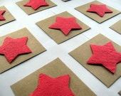 Seed Paper Star Wedding Favors - Patriotic Cards - Etoile Wedding Place Cards - Plantable Paper