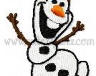 Snowman  Mini Filled Embroidery Design (DIGITAL ITEM)