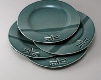 Dragonfly Plates, Set of 4