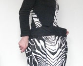 Special order for Davone large zebra striped bag and small zipped wristlet
