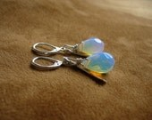 Moonstone and Silver Earrings