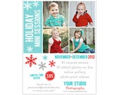 Photography Marketing Board Template for Christmas and Holiday Mini Sessions - INSTANT DOWNLOAD