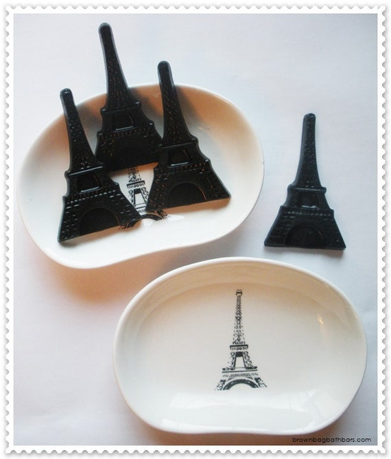 Eiffel Tower Soap Dish and Soap Gift