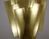 Raw Brass Sheet Bracelet Blanks 6 x 2in. 18ga Pkg Of 12 New Lower Price