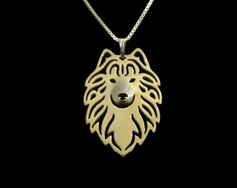 Samoyed necklace - gold vermeil (18K gold plated sterling silver)