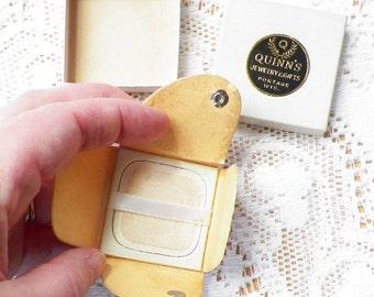 Small Vintage Square Ring / Jewelry Presentation Box / Envelope in Original Jewelers Box, Engagement Ring Envelope, Propose, Proposal