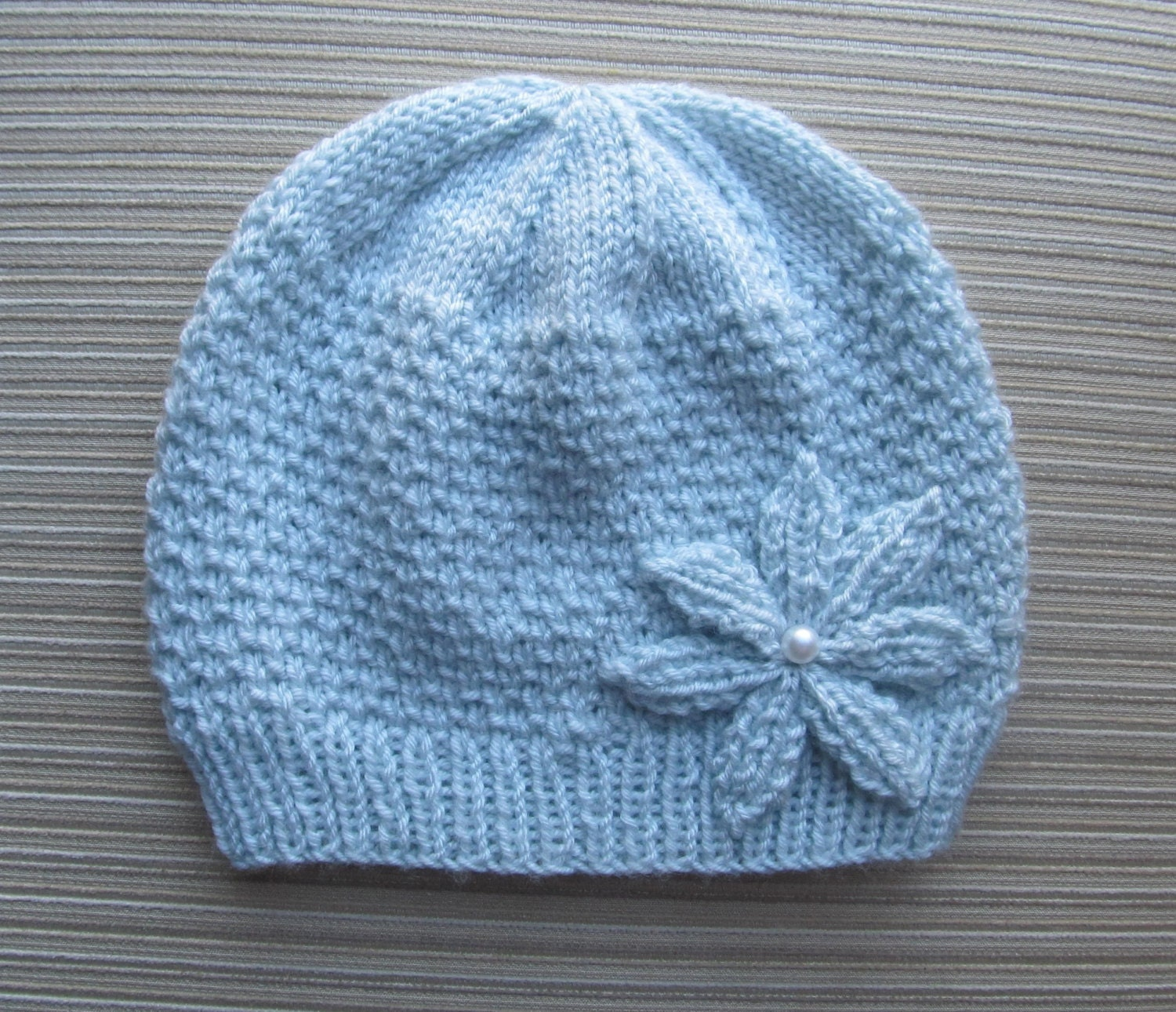 Instant Download Knitting Pattern 131 Blue Hat by ...