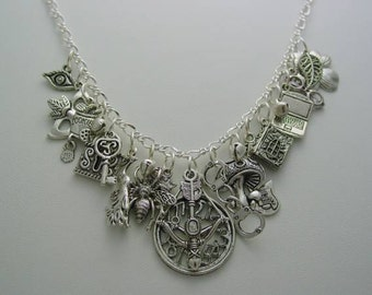 Claudia Funky Chunky Charm Necklace