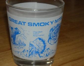 Great Smoky Mountains on-the-rocks souvenir glass
