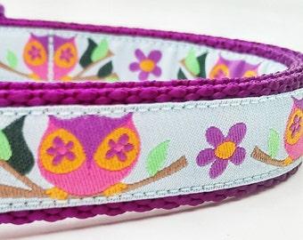 Garden Owl - Dog Collar / Pet Accessories / Handmade / Adjustable
