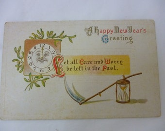 Early 1900s Postcard, Happy New Year's Greeting, Unused