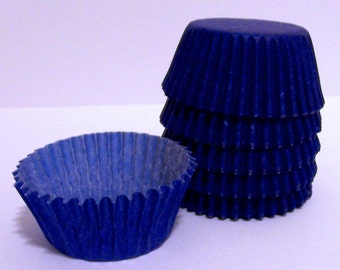 Mini Blue Baking Cups- Candy Liners- Choose Set of 50 or 100