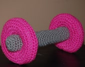 Hot Pink Dumbbell Photo Prop for Baby