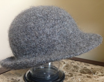 Felted Gray Cloche