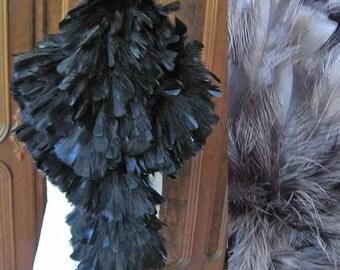 Vintage Black Feather Boa from Henri Bendel NYC