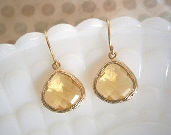 Citrine Earrings, Gold Earrings, Best Friend Birthday, Wife Gift, Holiday Gift, Mom, Sister, Girlfriend