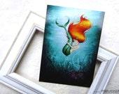 The tiniest mermaid - Postcard