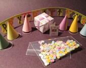 Dollhouse Miniature Birthday Party Set 1:12 scale miniature