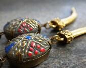 Bohemian Jewelry Mosaic Earrings with Niobium Ear Wires