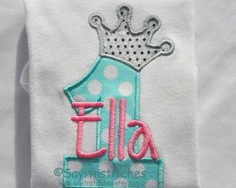 Personalized Birthday shirt, bodysuit, girl, boy, 1st birthday, princess or prince