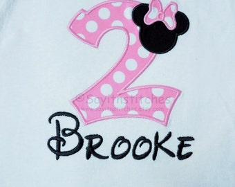 Personalzied Birthday shirt or bodysuit, Your choice of fabric and fonts, Numbers 1-9