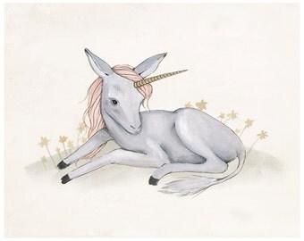 Baby Unicorn Print - 8X10