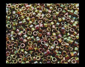 11/0 Miyuki Delica Seed Beads - Green Gold Rose 508 - 4.5 grams