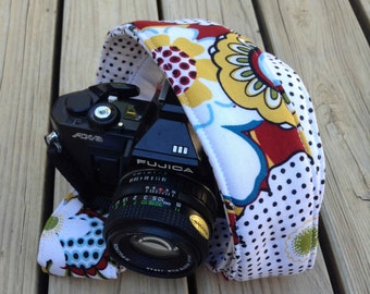 Monogramming Included Extra Long Camera Strap for DSL camera Fun Funky Print