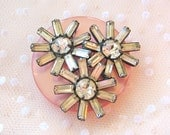 Sparkly Repurposed Vintage Shabby Chic Brooch Paris Apartment Magnet