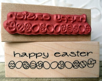 Happy Easter eggs rubber stamp from oldislandstamps