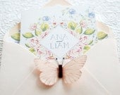 Roses and Vintage florals, No. 2- Printable Wedding Invitation