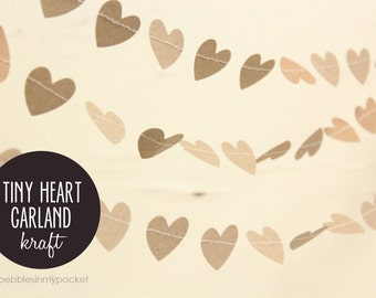 KIT Tiny Heart Garland-Kraft (20 ft)