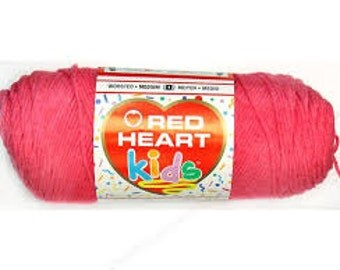 Red Heart Kids yarn in Pixie Pink color