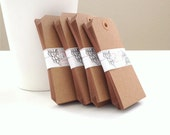100 - Blank Kraft Paper Gift Tags - Extra Large