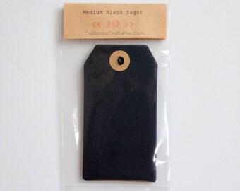 Black Gift Tags - Medium - set of 10