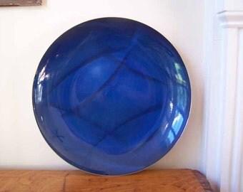 Cathrineholm, Feather Design, Enamel Platter, Grete Prytz, Grete Kittelsen, Blue Enamelware, Catherine Holm,  Cathrine Holm