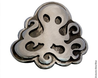 Steampunk Octopus Metal Belt Buckle by WATTO Distinctive Metal Wear