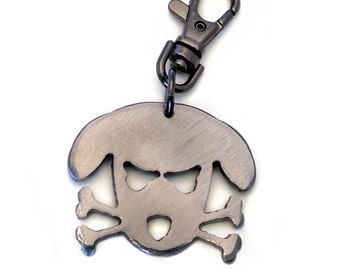 Outlaw Doggy Metal Keychain/ Dog Key Chain/ Doggie/ Crazy Dog/ Dog Lover Gift/Gift For Dog Lovers/ Gift For Men/ Gift For Dog Dad/ Dog Charm